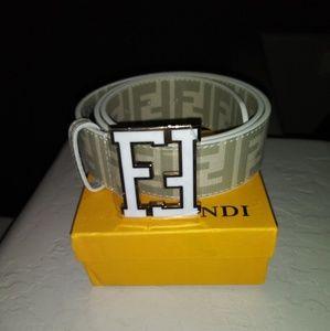 Fendi belt white brand new